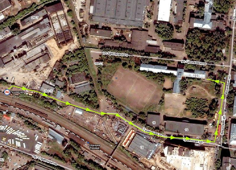 Схема прохода от станции м.